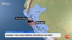 Mueren tres montañeros españoles y su guía peruano en una avalancha en Los Andes