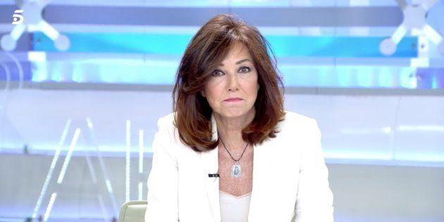 Ana Rosa Quintana en su programa el 8 de enero de