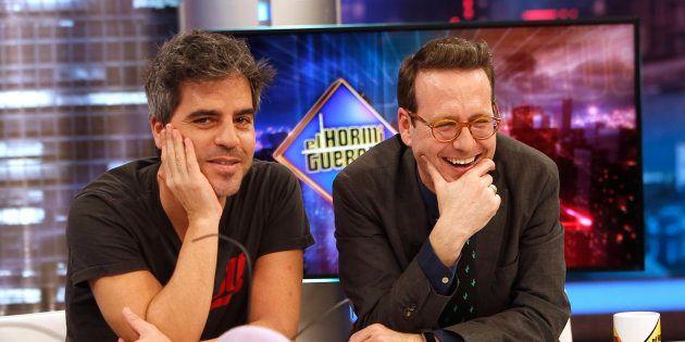 Los actores y humoristas Ernesto Sevilla y Joaquín Reyes, en 'El Hormiguero' el 5 de febrero de