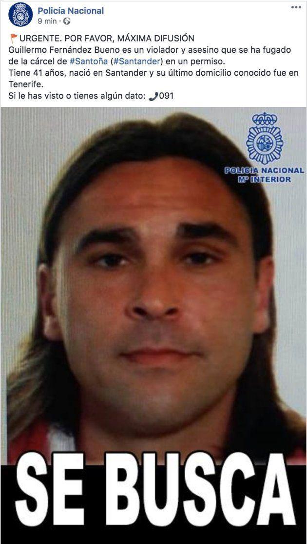 Buscan a un peligroso condenado por asesinato y violación que no ha vuelto a la cárcel tras un