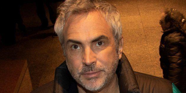 El director mexicano Alfonso Cuarón asiste a la apertura de una retrospectiva de sus películas presentada...