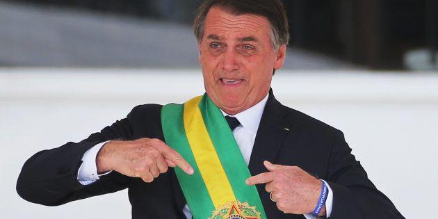 Jair Bolsonaro, durante su toma de posesión como presidente, el pasado 1 de enero, en