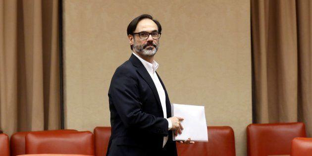 El periodista Fernando Garea, antes de comparecer en la Comisión Constitucional del