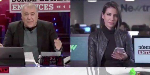 Antonio García Ferreras y Ana Pastor, en 'Al Rojo Vivo' el 9 de enero de
