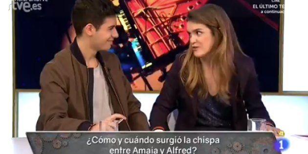 Alfred y Amaia cuentan a Cárdenas cómo surgió la chispa entre