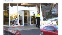 Un hombre estrella su coche contra el acceso principal de TV3 en