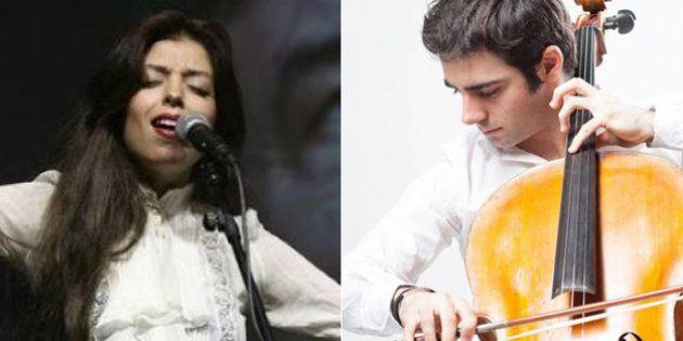 La cantante Soleá Morente y el violonchelista Pablo Ferrández, premio FPdGi Artes y Letras 2018 ex