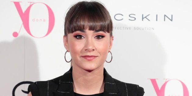 La cantante Aitana, en un evento de la Cibeles Fashion Week Madrid en Madrid el 3 de julio de