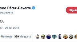 La explicación de Pérez-Reverte tras sorprender con este extraño