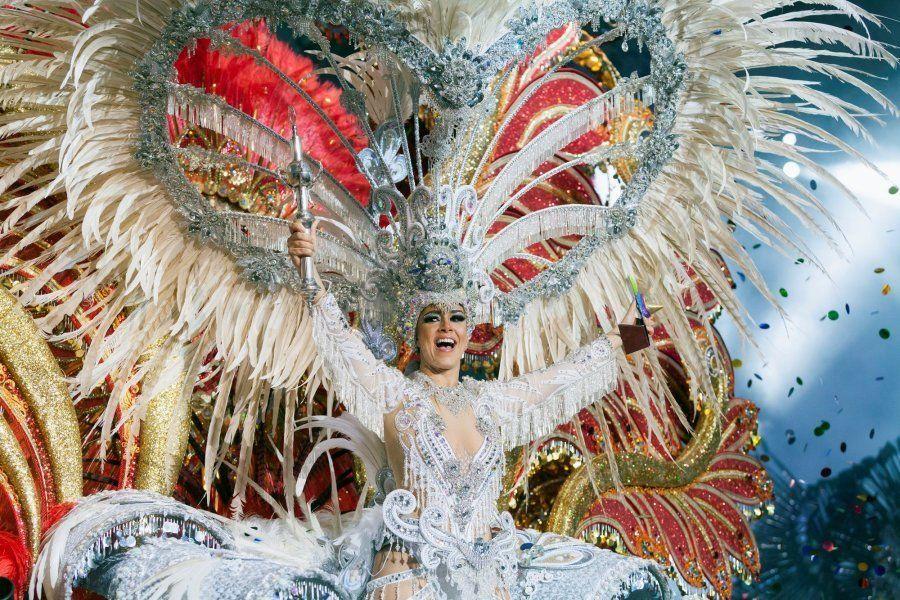 La ganadora, Carmen Laura Lourido, vistiendo la fantasía