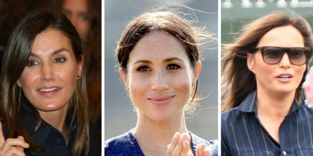 La coincidencia estilística de la reina Letizia, Meghan Markle y Melania