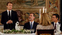 Así fue la cena de honor a Macron en el Palacio