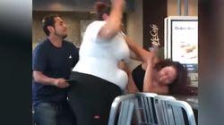 La tremenda paliza de una empleada de McDonald's a una