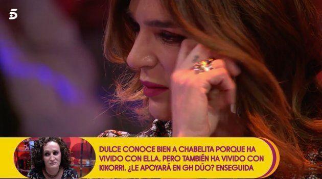 Raquel Bollo rompe a llorar en