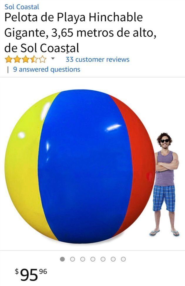 La hilarante reseña en Amazon de una pelota de playa