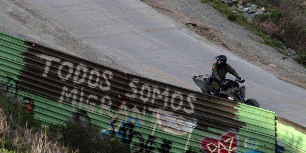Imagen de archivo de la frontera con