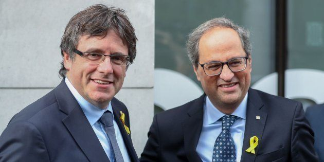 Puigdemont llega a Bruselas y advierte a Pedro Sánchez: