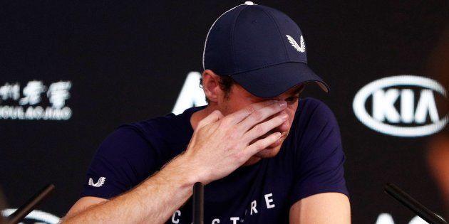 Andy Murray durante la rueda de prensa previo al Abierto de