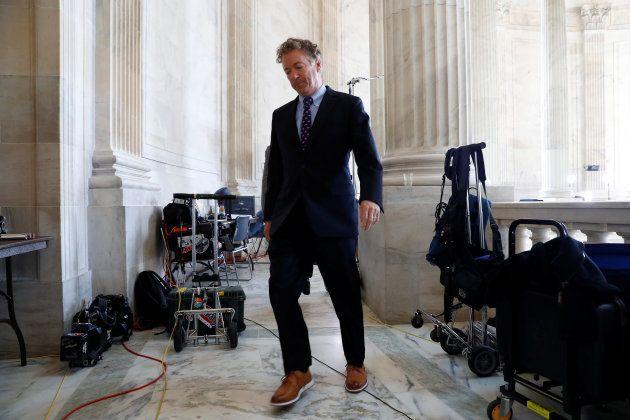Rand Paul, el senador republicano de EEUU que ha forzado el cierre de su propio