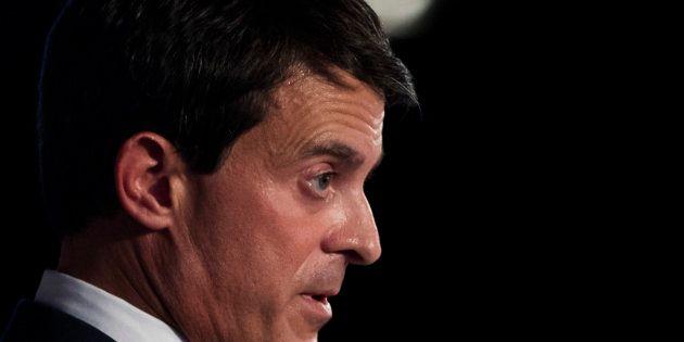 Manuel Valls, durante la presentación de su candidatura el pasado