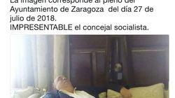 Críticas a un concejal socialista de Zaragoza por echarse la siesta durante un