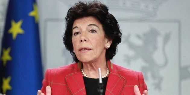 Isabel Celáa, en la rueda de prensa posterior al Consejo de Ministros que ha aprobado el proyecto de...