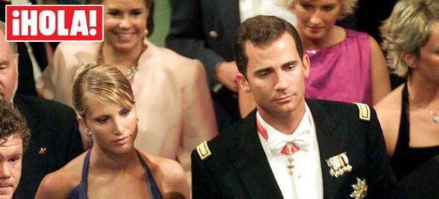 Eva Sannum y el príncipe Felipe en la boda de Haakon de Noruega y Mette Marit en agosto de