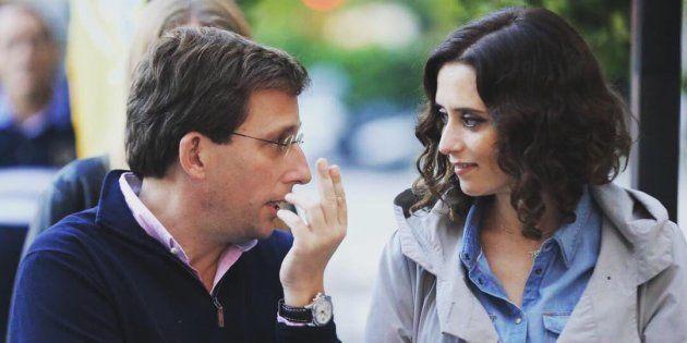 Isabel Díaz Ayuso y José Luis Martínez-Almeida, candidatos del PP al Ayuntamiento de Madrid y a la