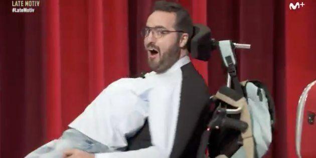 Raúl Pérez imita a Pablo Echenique en 'Late Motiv', el programa de Buenafuente en