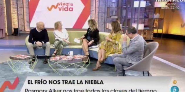 Emma García y sus colaboradores en el plató de 'Viva la