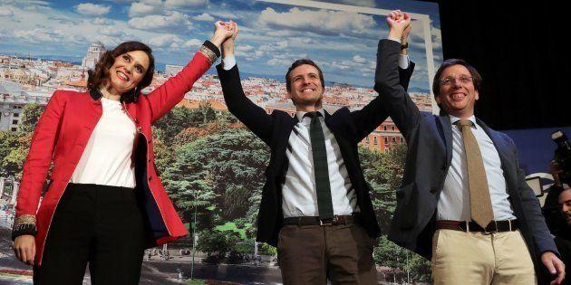 Pablo Casado presenta a Isabel Díaz Ayuso y José Luis Martínez-Almeida como candidatos a la Comunidad...