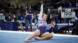 Una gimnasta se vuelve viral con su increíble rutina de