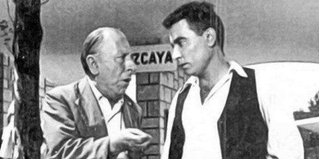 Pepe Isbert y Pedro Beltrán durante una
