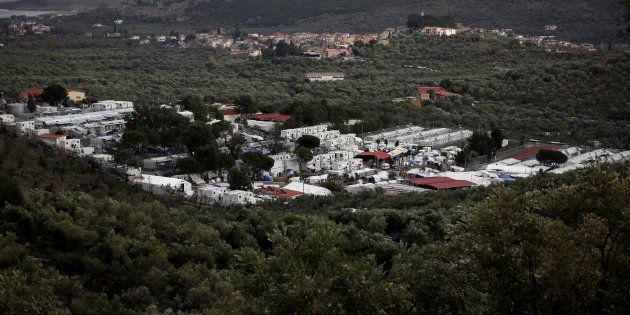 Vista general del campo de refugiados de Moria en la isla griega de Lesbos, en una imagen de
