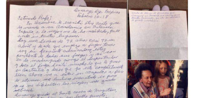 Una anciana mexicana de 92 años emociona a Rafa Nadal con esta preciosa