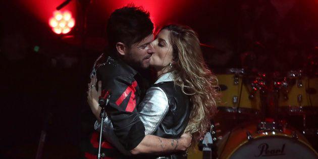 Pablo López y Miriam Rodríguez, en un concierto el 11 de enero en