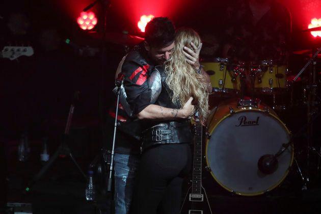 Miriam Rodríguez y Pablo López, en un concierto el 11 de enero de