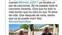 La historia de este abuelo que fue a ver a Amaia al Teatro Real que te pondrá la piel de