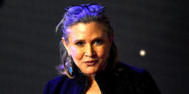 Carrie Fisher en el estreno de 'Star Wars, El Despertar de la Fuerza', en Londres, en diciembre de
