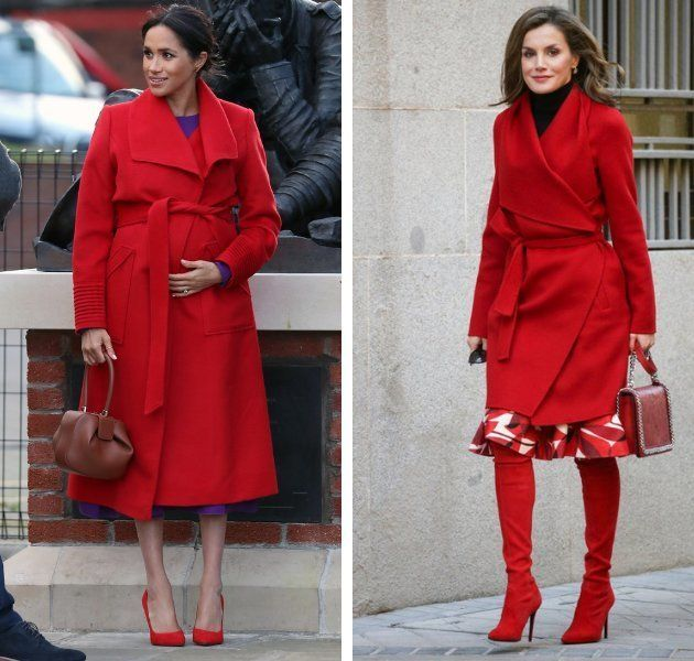 Meghan Markle 'roba' a la reina Letizia uno de sus abrigos