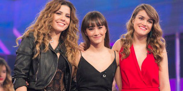De izquierda a derecha, las tres ganadoras de 'OT 2017': Miriam (3ª), Aitana (2ª) y Amaia