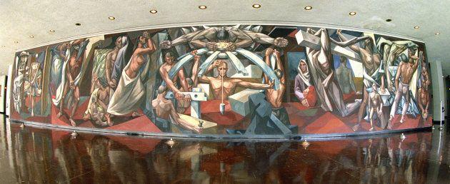 Mural de José Vela Zanetti en la Sede de la ONU en Nueva