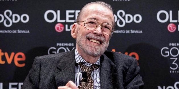 Chicho Ibáñez Serrador en la fiesta de los nominados a los premios Goya