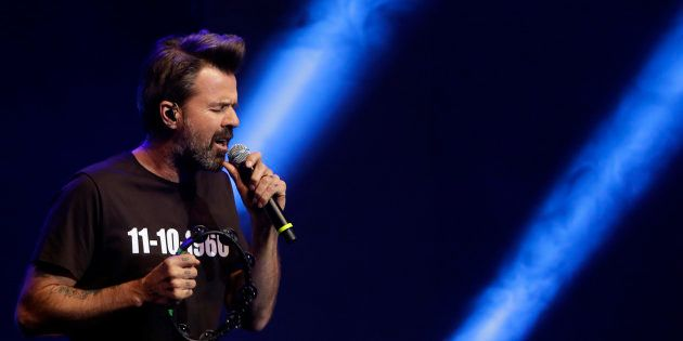 El cantante Pau Donés, durante la 64ª edición de los Premios Ondas 2017 en