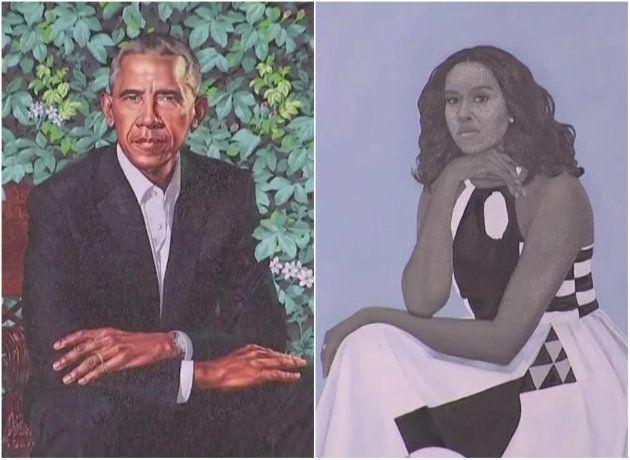 Sorpresa por un retrato de una Michelle Obama