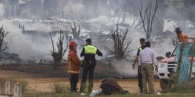 Imagen de archivo de un incendio que tuvo lugar en la misma zona en noviembre de