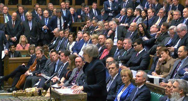 Theresa May, durante su intervención de