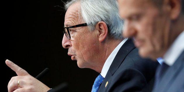 Jean-Claude Juncker y Donald Tusk, el pasado octubre en Bruselas, tras la cumbre de líderes de la