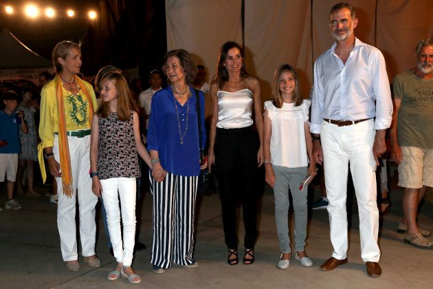 Los reyes y sus hijas disfrutan de un concierto de Ara Malikian con doña