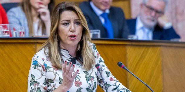 Susana Díaz (PSOE) durante la continuación del debate de investidura de Juan Manuel Moreno Bonilla (PP)...